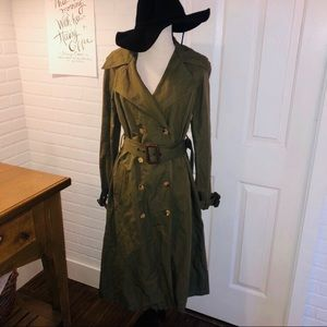 Michael Kors Made In Italy Linen Blend Trench Coat